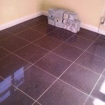 New kitchen floor all ready for the clients own kitchen fitting team