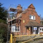 London refurbishment project - External front