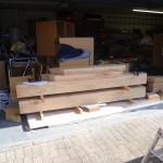 hand crafted oak extension - wood preparation