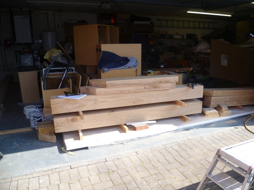 Hand crafted oak extension wood preparation emc for Blog builders