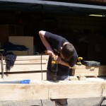 hand crafted oak extension - initial wood working