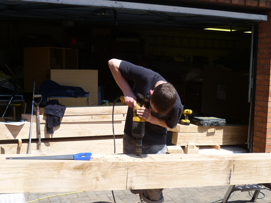 Hand crafted oak extension initial wood working emc for Blog builders
