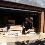 hand crafted oak extension - initial preparation