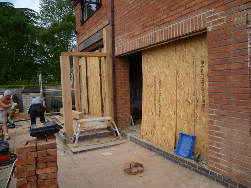 Hand crafted oak extension full view emc builders for Blog builders