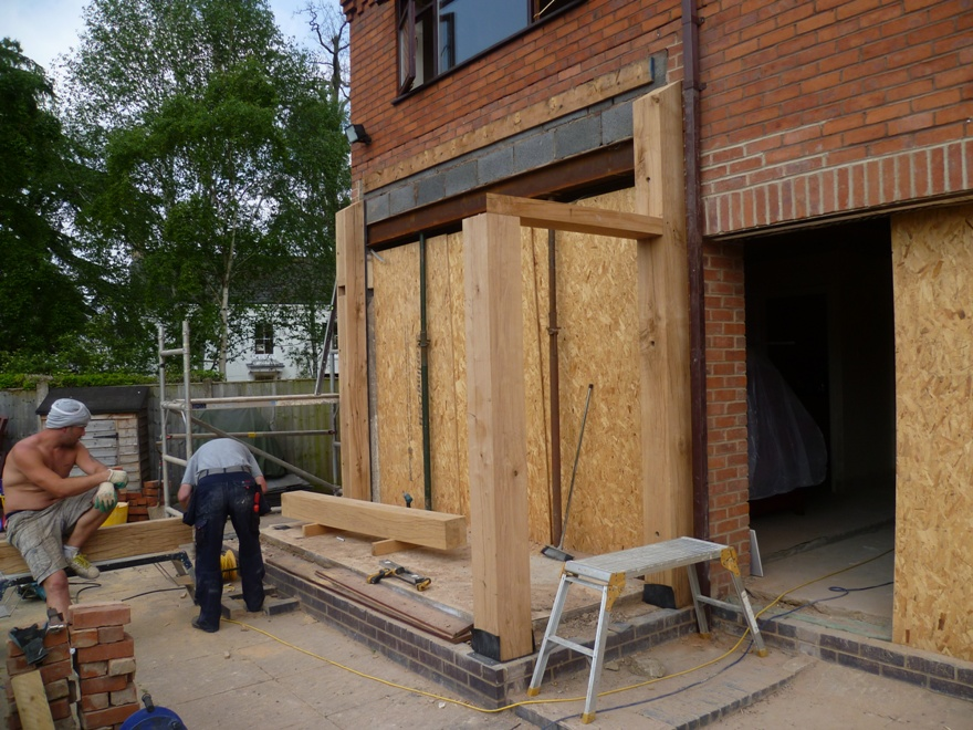 Hand crafted oak extension from emc emc builders for Blog builders