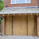 hand crafted oak extension - front view