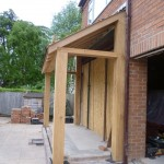 hand crafted oak extension - side view