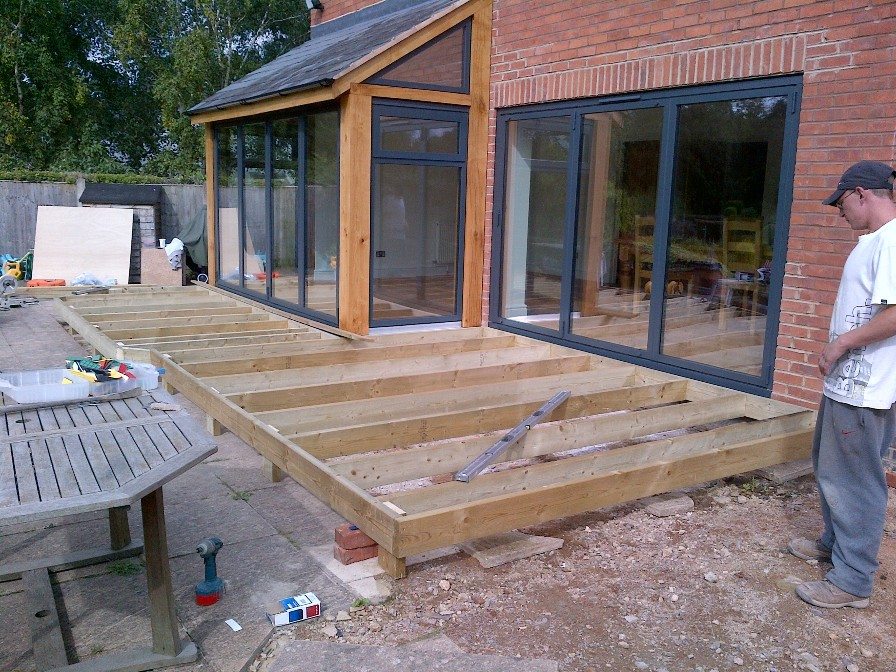 External Decking Preperation Emc Builders Leicester Blog
