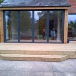 external decking outside the new extension
