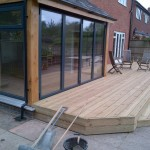 external decking and bi folding doors