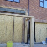 external timber roof supports