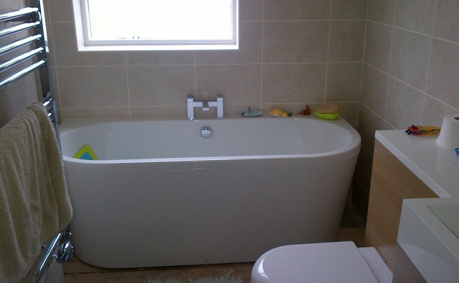 Emc install bathrooms finished to a very high standard for Bathroom builders leicester